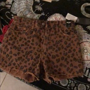 Size 24 Abercrombie&Fitch leopard high rise short